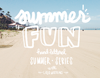Summer Fun: Hand-Lettered Series for Summer