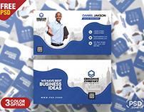 Agency Business Card Design PSD Template