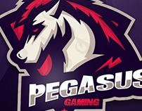 HORSE MASCOT LOGO FOR PEGASUS GAMING