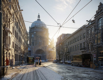 CGI: Winter in Brussels