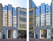 Rabobank exterior renovation, Utrecht, the Netherlands