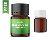 Pharmacy glass jar mockup