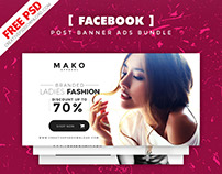Facebook Post Banner Ads Free PSD Bundle