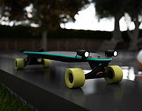 Electric longboard with modular battery cover