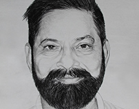 A MAN WITH SMILE- Portrait by Artist Kamal Nishad