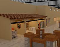 Interiores de un Centro Comercial