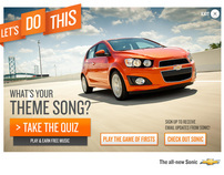 2012 Chevy Sonic Campaign