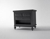 Pack Furniture Bed Side - 3D Model