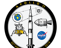 Apollo 11 - 50th Anniversary sticker