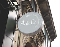 Administración y Desarrollo. Logo design