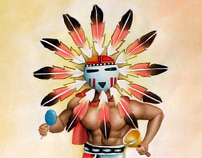 Sun Kachina - Painting