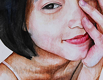 a morning smile - water color painting by- Kamal Nishad