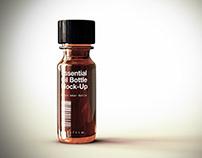 Amber Tincture Bottle | Vile Mock-Up