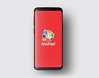 Khelho App UI Design