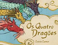 Os Quatro Dragões - livro infantil ilustrado