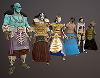 CharactersModeling -Battle of Gods & Men