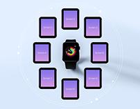Free Apple Watch App Screen Mockup PSD