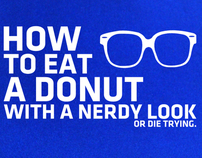 HOW TO EAT A DONUT WITH A NERDY LOOK OR DIE TRYING