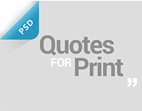 Quotes For Print - Free PSD