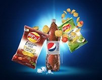 Lays-Pepsi Promotion Visuals