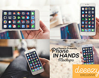 Free Phone in Hands Mockups