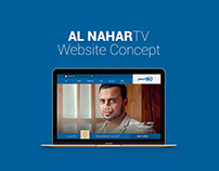 Al Nahar TV Website Concept