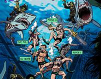 """Dive Deep Fin Hard"" Commission"