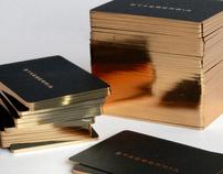 Diseño de tarjetas para la marca ETXEBERRIA