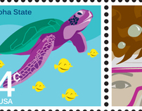 Hawaiian-Themed Stamps