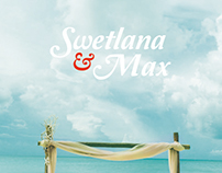 Swetlana & Max Beach Wedding Stationary