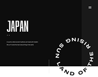 Japan - Homepage for a personal project