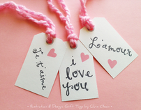 Design: Gift Tags, English and French Sayings
