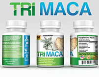 Tri-Maca Supplement Label  for Pill Bottle