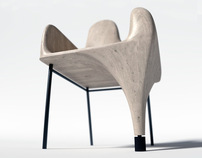 Furniture from one piece of wood - 3D concept