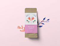 Morning coffee Illustration and package design.