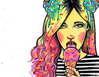 Ilustración para estampa - SweetShop