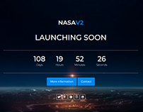NasaV2 - Coming Soon with countdown template