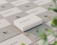 Freebie: Elegant Business Cards Mockup