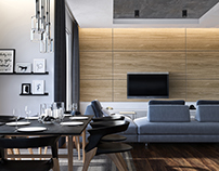 Apartment home living room 3D-Visualization&Design