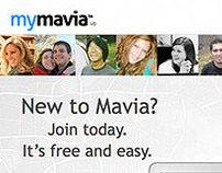 MyMavia web app UI