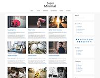 Super Minimal WordPress Theme