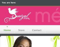 QuetzalStore Web & Logo Design