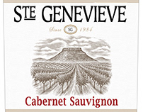 Ste Genevieve Wine Label Illustrated by Steven Noble