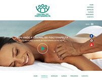 Layout para o site Central do Fisioterapeuta