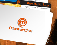 "Master Chef - ""Recipes for Movies"" cards"