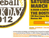"The Boston Globe ""Boston Baseball Hack Day"" Logo & Web"