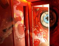 Mural Painting - Hotel Vincci Bit Barcelona