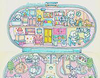 Polly Pocket Babysitting Stamper Set