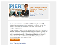 Email Design - PIER Training (2012)
