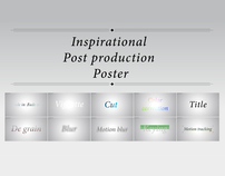 Inspirational Post production Poster